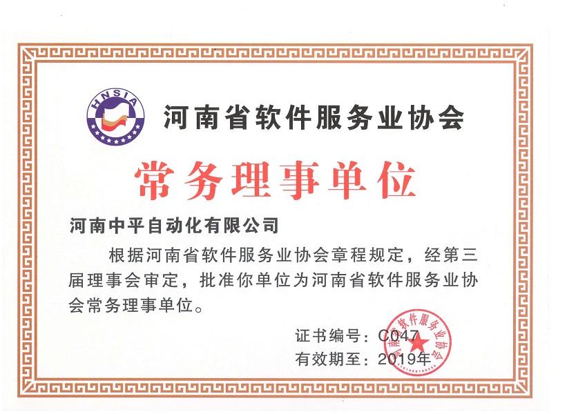 河南省软件服务协会常务理事单位